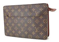 Authentic LOUIS VUITTON Pochette Homme Monogram Clutch Bag #36118