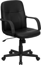Flash Furniture Mid-Back Black Glove Vinyl Executive Swivel Office Chair