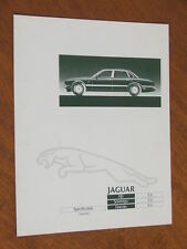 1980 Jaguar XJ6 3.6 range original Australian 4 page Specifications folder