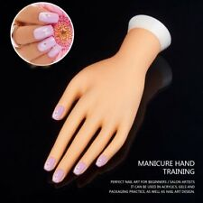 Practice Adjustable Fake Left Hand Model for Nail Art Training and Display UK