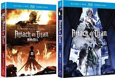 Attack on Titan Parts 1 2 Ep 1-25 Complete Anime Blu-ray/DVD Combo