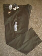 DOCKERS D3 Prestige Brown Classic Fit FLAT Front Polyester Pants - 38 X 30 - NWT