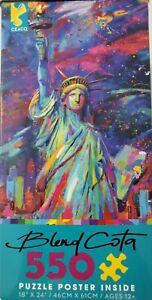 """NEW 550 piece Puzzle, """"Vive La Liberte"""" by Blend Cota/Ceaco, 18"""" x 24"""""""