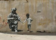 BANKSY WAR PALESTINE GRAFFITI CANVAS PICTURE POSTER PRINT UNFRAMED #A363