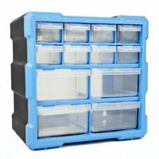 Drawer Double Storage Cabinet Box Workshop Tools DIY Case Unit With 12 Drawers