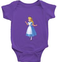 Infant Baby Boy Girl Rib Bodysuit Babysuits Gift Cute Alice in Wonderland Disney
