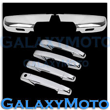 07-13 GMC Yukon+XL Chrome lower Mirror W/light+4 Door Handle no PSG KH Cover