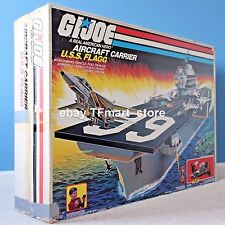 1985 Vintage GI Joe USS Flagg Aircraft Carrier Keel Haul Playset Complete w/ Box