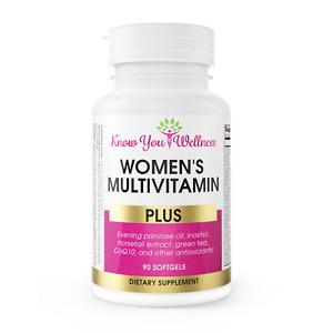 Womens Multivitamin Pills w Inositol CoQ10 Herbs Optimize Fertility Get Pregnant
