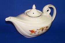 Aladdin's Tea Pot Hall's Autumn Leaf Jewel Tea Company Lid Infuser Vintage