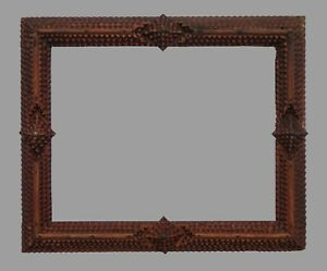 Black Forest / TRAMP ART PICTURE FRAME - 19th century (# 14025)