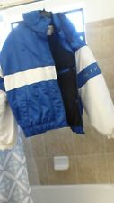 MEN'S M. NIKE SKI SNOW COAT WINTER JACKET W/HOOD BLACK LINED, BLUE & WHITE OUTER