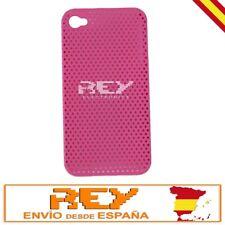 Carcasa IPHONE 4 4S PERFORADA, Dura y Ligera, Color ROSA, Nuevo i26