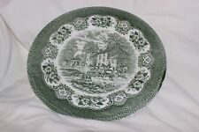 Staffordshire Charger Serving Plate Green Hunting Party