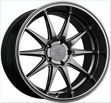 XXR 527D 18x9 5x114.3 +35 Chromium Black Set of (4) Rims Wheels