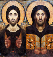 Huge Oil painting male portrait Christ Jesus Composite christ pantocrator canvas