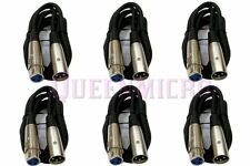 6 Lot 6Ft XLR 3-Pin Male Female Extension Mic Microphone Audio Cord Cable 6' Ft
