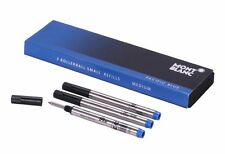 Montblanc Tintenrollermine blau M Rollerball Small Refill 3er Pack