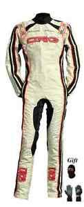 CRG Go kart race suit CIK/FIA Level 2 approved 2015 pearl white