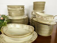65 PC Set VTG 1970s Japan Noritake Ivory China GALLERY 7246 Floral Dinnerware