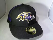 Baltimore Ravens NFL New Era 59FIFTY Fitted Low Profile Cap Hat (MEN Size 7 1/2)