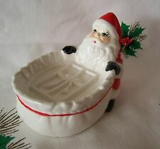 Vintage Ceramic ~Made in Japan~ Santa Claus Soap Dish With Label - Adorable!