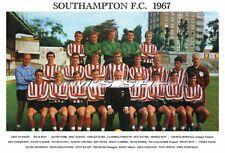 SOUTHAMPTON F.C.TEAM PRINT 1967 (MELIA/DAVIES/WEBB/CHANNON)