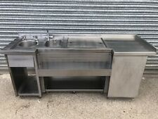 More details for commercial stainless steel bar sink / bar station with ice well/ catering