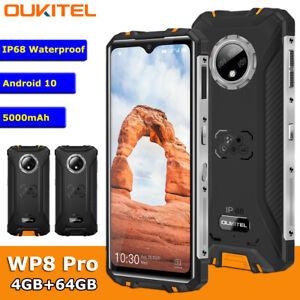 6.49'' OUKITEL WP8 Pro IP68 Rugged Sports Phone Android 10 4GB 64GB 5000mAh 16MP