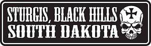 "STURGIS SOUTH DAKOTA BIKE WEEK DECAL STICKER STURGIS SOUTH DAKOTA 7"" x 2.25"""