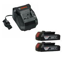 BOSCH BAT611-2-RT 2-Pack 18V Li-ion Slim Pack Batteries & BC660 Battery Charger