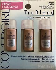 1 Covergirl Tru Blend Makeup Flawless Coverage #420 Medium/Deep 3-Shades