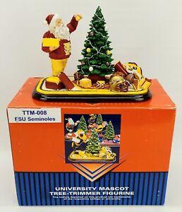 FSU Seminoles University Mascot Tree Trimmer Figurine ~ College Treasures ~ 2003
