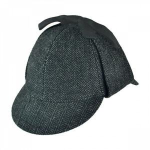 Jaxon Hats Sherlock Holmes Herringbone Wool Blend Hat
