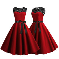 Vintage Dress 50s 60s Retro Style Rockabilly Pinup Housewife Party Swing Tea US