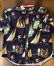 Tommy Hilfiger American Classics Navy Surplus Style XL Button Up Nautical Print
