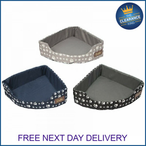 Crufts Deluxe Corner Bed Pet Dog Cat Kitten Puppy Warm Bed Cushion Filling
