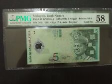 DE 1111111 Solid Number RM5 Polymer PMG AUNC 58 Malaysia