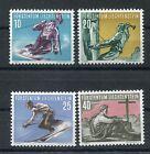 LIECHTENSTEIN 1955 WINTER SPORTS SKI MNH Set 4 Stamps