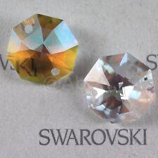 4 pcs Swarovski ANTIQUE Prism Crystal 8116 14mm 2-holes Octagon Pendant CLEAR AB