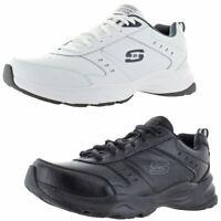 Skechers Mens Haniger Leather Memory Foam Running Shoes Sneakers BHFO 0865