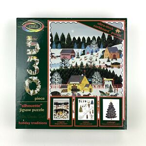 Vintage Ceaco Jane Wooster Scott Puzzle Holiday Traditions Silhouette 530 pc NIB