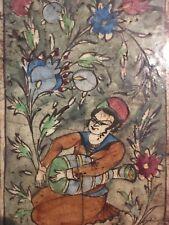 Très Beau Carreau en céramique émaillée - Qadjar - Iran