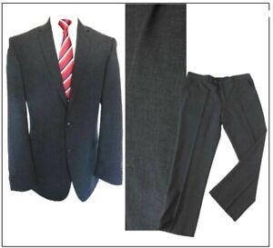 "Taylor & Wright  mens TAILORED FIT  2 piece suit Ch44""L W40"" L31""Charcoal Plaid"