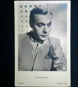 charles boyer cartolina postcard vintage anni 30 cartoline french american actor