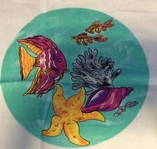 """New listing 1992 """"Fish Collection"""" Cut & Sew Printed Panel by Dmc"""
