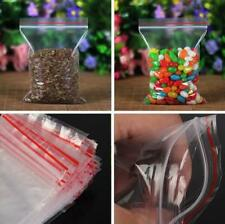 100PCS 10X7cm Small Plastic Bags Clear New Clip Resealable Seal Zip Lock Pop