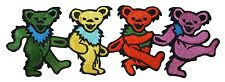 """Grateful Dead Band 6"""" Dancing Bear March Strip Rock Icon Iron On Applique Patch"""