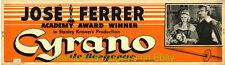 CYRANO MOVIE POSTER STANLEY KRAMER 1951 Paper 20x80 Inch Banner JOSE FERRER