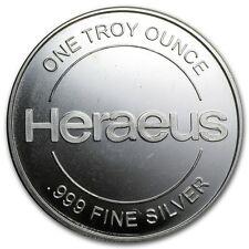 Medalla Plata 999/1000 1 Onza Heraeus - 1 Oz silver